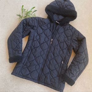 Patagonia Black Fur Puffer Jacket